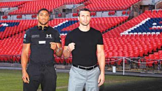 Anthony Joshua (left) and Wladmir Klitschko will meet in Wembley to determine the world's best heavyweight boxer… on April 29.