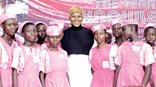 Screen star, Stephanie Linus shortly after mentoring students at LABAF 2016… in Lagos