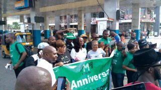 MMM participants marking one year anniversary in Nigeria in Ikeja, Lagos on November  17, 2016