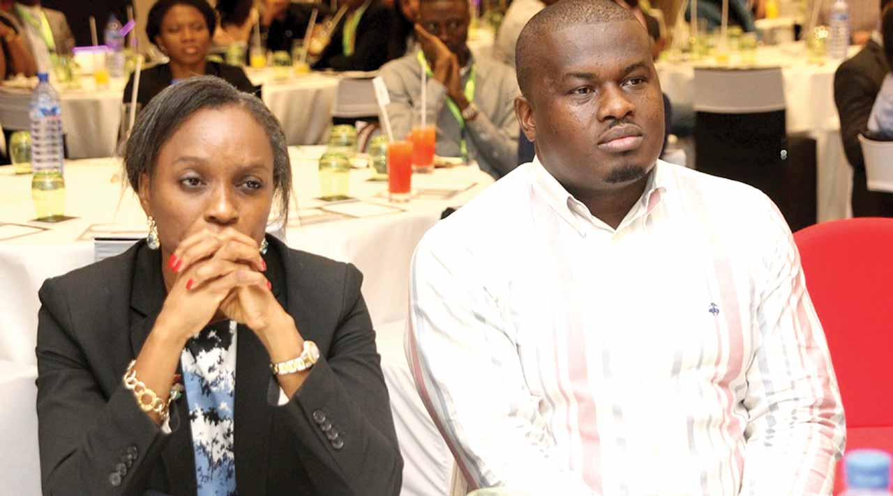 (L-r): Omobola Johnson, general partner at TLCom Capital and former Minister of Communication Technology and Elo Umeh, Founder Twinpine during a forum in Lagos, recently.