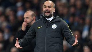 Manchester City's Spanish manager Pep Guardiola  / AFP PHOTO / Paul ELLIS /