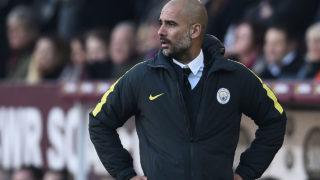 Manchester City's Spanish manager Pep Guardiola  / AFP PHOTO / Oli SCARFF /