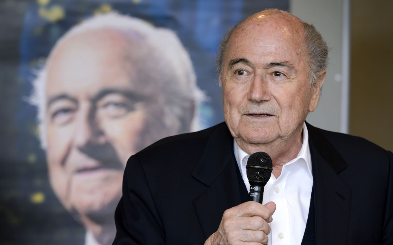 FIFA's ex-president Sepp Blatter speaking during the presentation of his biography in Zurich on April 21, 2016. Former FIFA president Sepp Blatter will learn on December 5, 2016 whether his appeal against a six-year ban from football has been successful, the Court of Arbitration for Sport (CAS) said. Once the most powerful man in football, Blatter is serving a ban over ethics violations relating to a suspect $2 million payment he authorised in 2011 to former UEFA boss Michel Platini. / AFP PHOTO / FABRICE COFFRINI