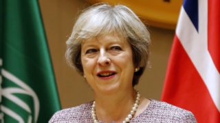 British Prime Minister Theresa May  / AFP PHOTO / STRINGER