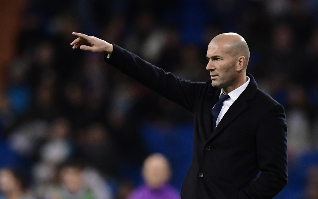 Real Madrid's French coach Zinedine Zidane / AFP PHOTO / JAVIER SORIANO