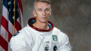 This January 1, 1971 image courtesy of NASA shows Apollo astronaut Eugene A. Cernan. Cernan the last to walk on the moon died on January 16, 2017 NASA announced in a tweet. He was 82. HO / NASA / AFP