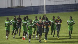 Senegal's players take part in a training session in Bongoville on January 20, 2017, during the 2017 Africa Cup of Nations football tournament in Gabon. KHALED DESOUKI / AFP