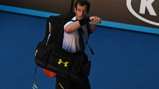 Britain's Andy Murray leaves the court following his defeat against Germany's Mischa Zverev during their men's singles fourth round match on day seven of the Australian Open tennis tournament in Melbourne on January 22, 2017. GREG WOOD / AFP