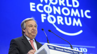 UN Secretary General Antonio Guterres  / AFP PHOTO / FABRICE COFFRINI