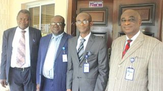Head, Department of Accounting, Babcock University, Ogun State; Professor Rufus Akintoye (left); Dean, School of Management Sciences; Professor, Enyi Patrick Enyi; Vice Chancellor, Professor Ademola Tayo, and Deputy Vice Chancellor (Academics), Professor Iheanyichukwu Okoro, at the opening of 2016/2017 first semester seminar presentation by doctoral students of the Department of Accounting ...recently.
