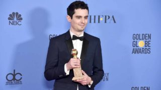 Filmmaker Damien Chazelle poses in the press room during the 74th Annual Golden Globe Awards at The Beverly Hilton Hotel on January 8, 2017 in Beverly Hills, California. Alberto E. Rodriguez/Getty Images/AFP  Alberto E. Rodriguez / GETTY IMAGES NORTH AMERICA / AFP