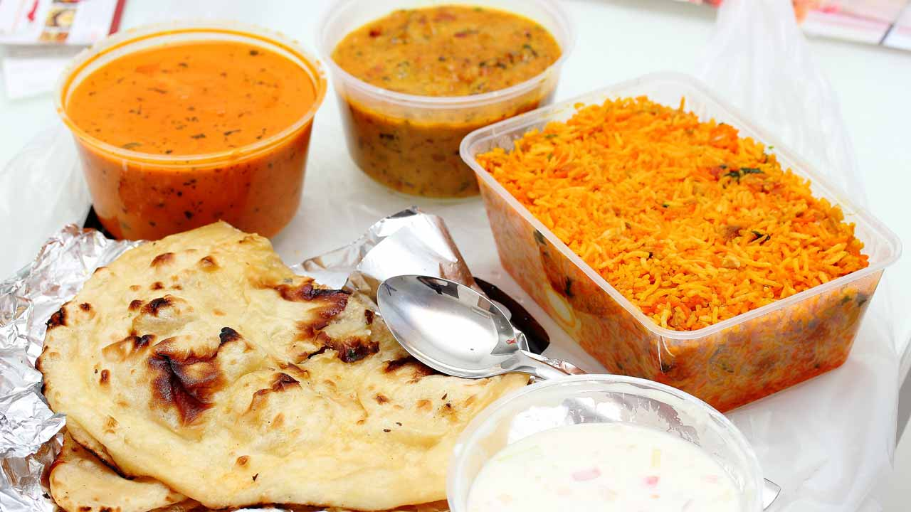 food heated in plastic packs/containers