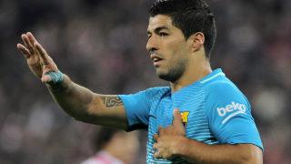 Barcelona's Uruguayan forward Luis Suarez / AFP PHOTO / ANDER GILLENEA