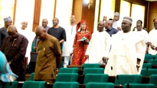 House of Representatives during a plenary on Tuesday.