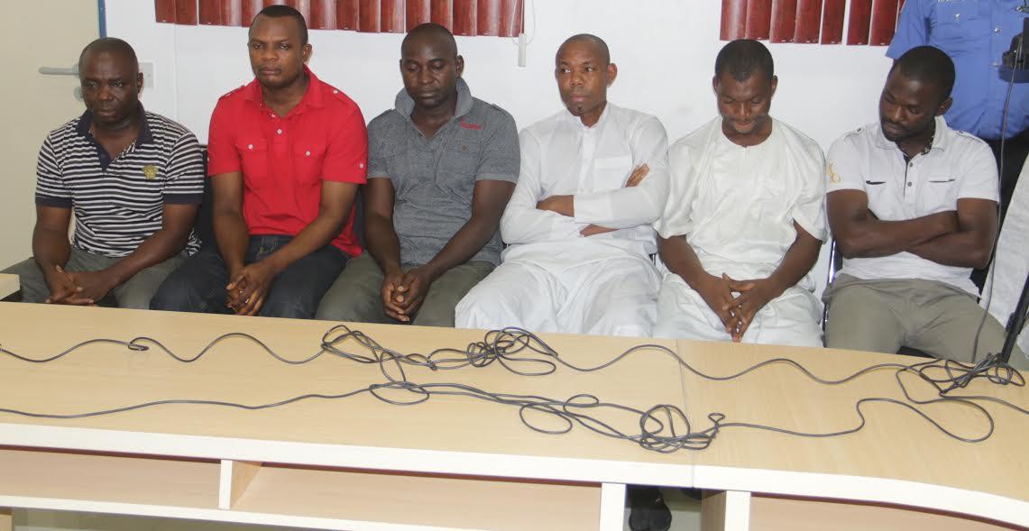 The six sacked policemen