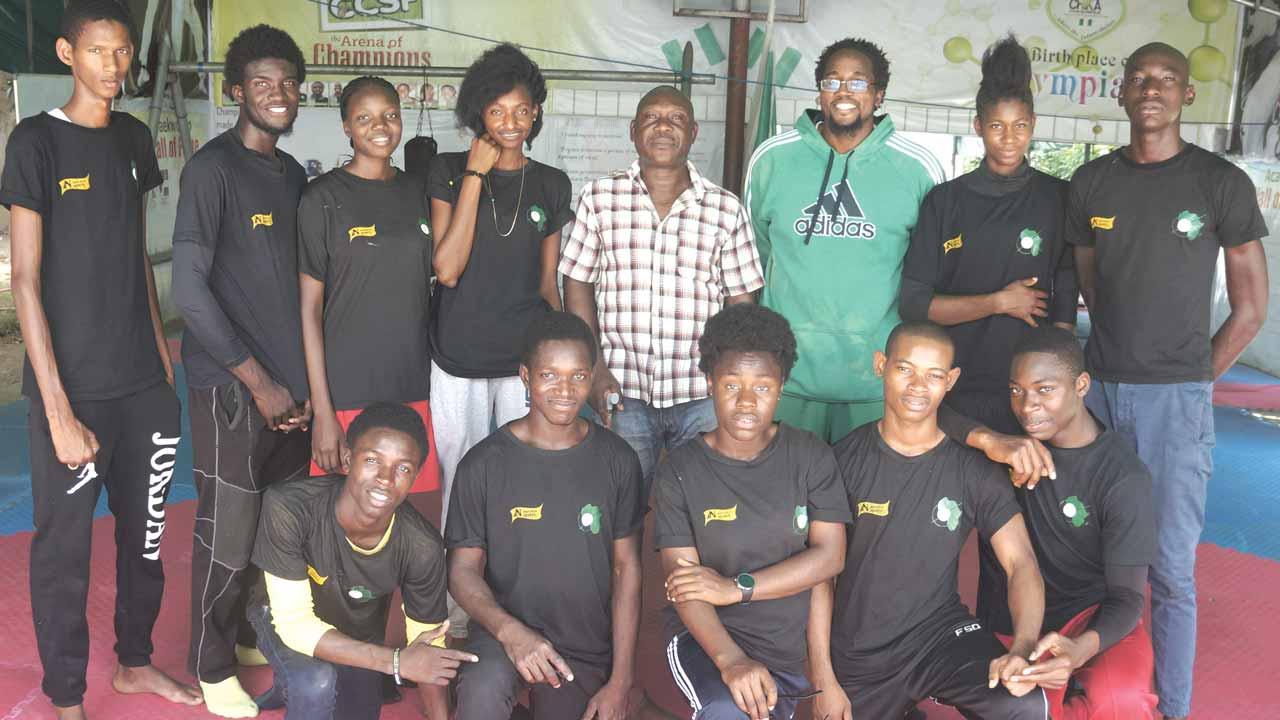 Team CCSF with Nigeria seven-time National Champion, board member of the Nigeria Taekwondo Federation and Chairman of FCT Taekwondo Association, Grandmaster Tony Anafulu in Abuja… on Monday
