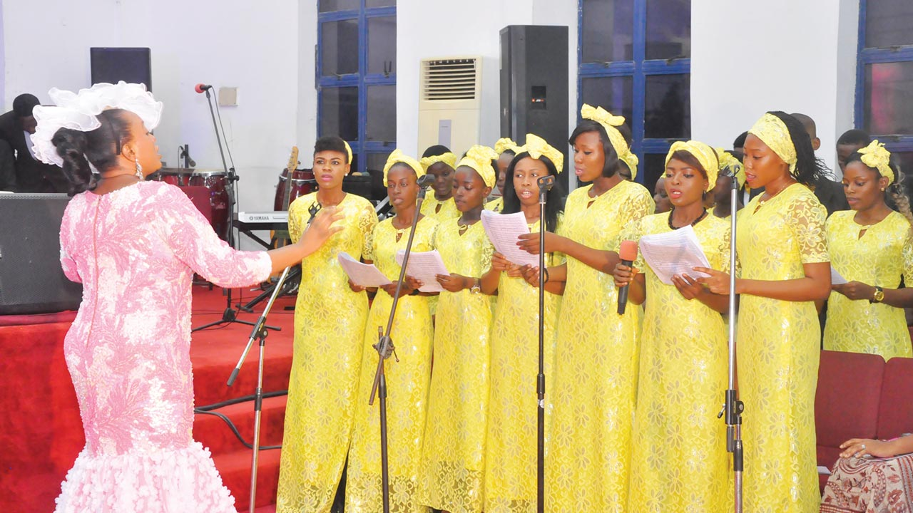 Girls of the ministry during their singing ministration