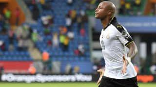 Andre Ayew converted a first-half penalty as Ghana started their latest bid to reclaim the Africa Cup of Nations title with a hard-earned 1-0 victory against Uganda in Port-Gentil on Tuesday. PHOTO: AFP