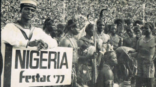 Festac 77, also known as the Second World Black and African Festival of Arts and Culture, was held in Lagos from January15, 1977 to February12, 1977with 59  countries  in attendance.