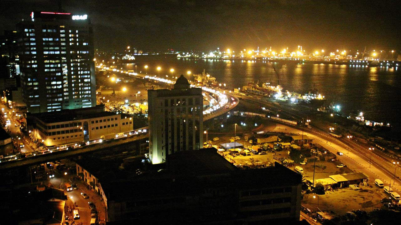 Lagos at night. PHOTO: United Nations