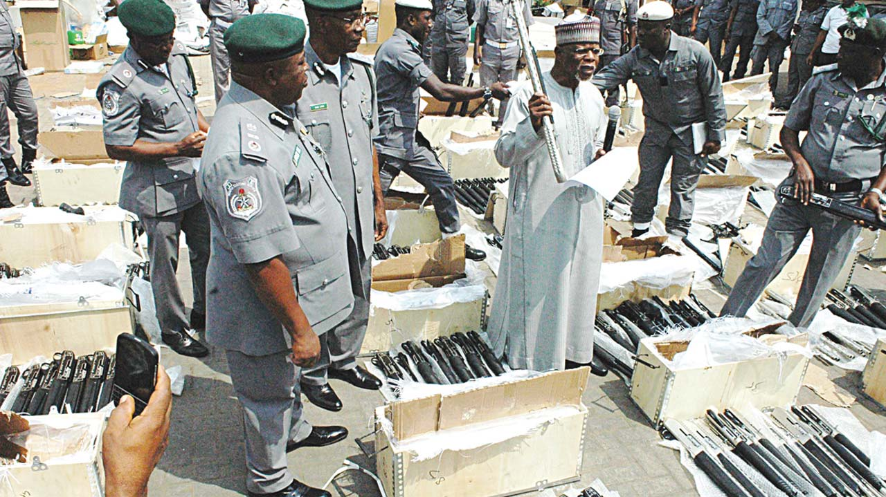 Image result for Nigerian customs seized rifles