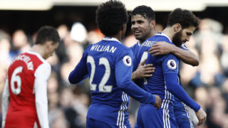 Chelsea 12 points clear after thrashing Arsenal 3 Goals to 1