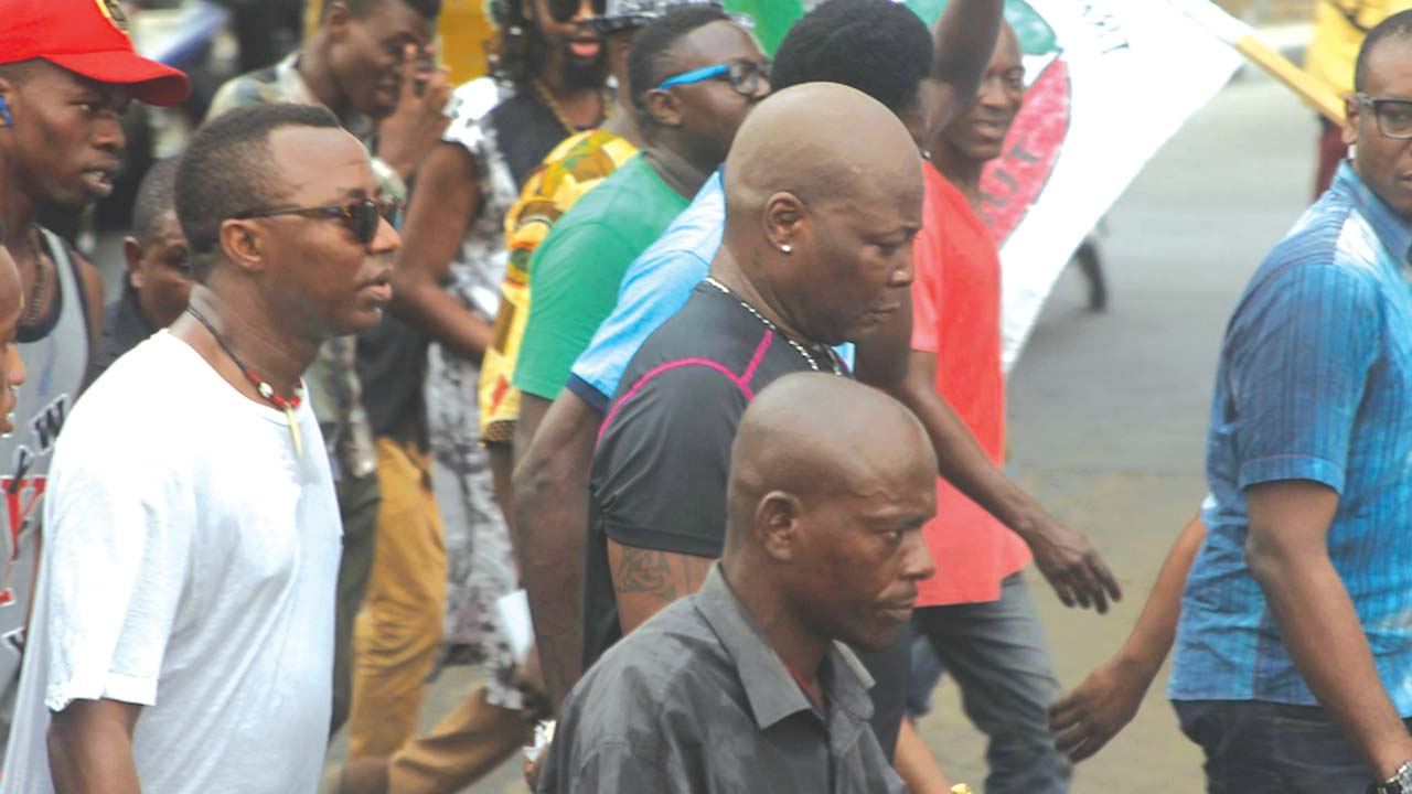 Image result for charly boy protest