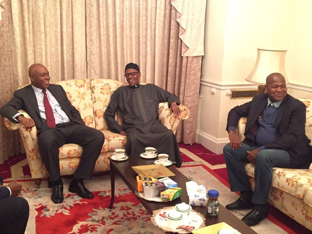 Buhari 'cheerful, healthy', says Saraki