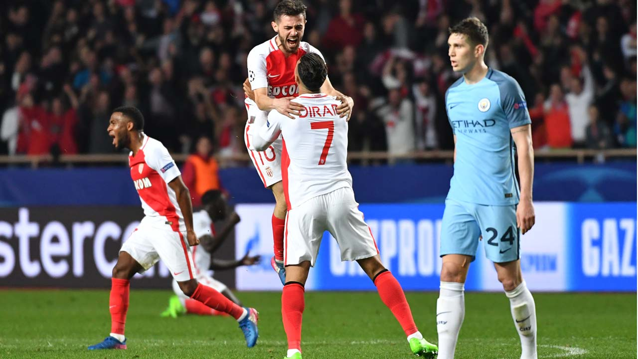 Monaco stuns City in UCL last 16 tie