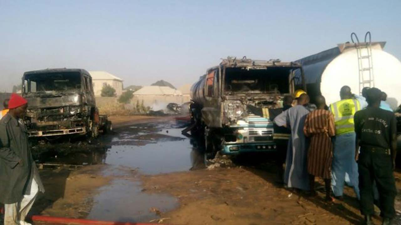 NSCDC says petrol tankers bombed in Borno were diverted