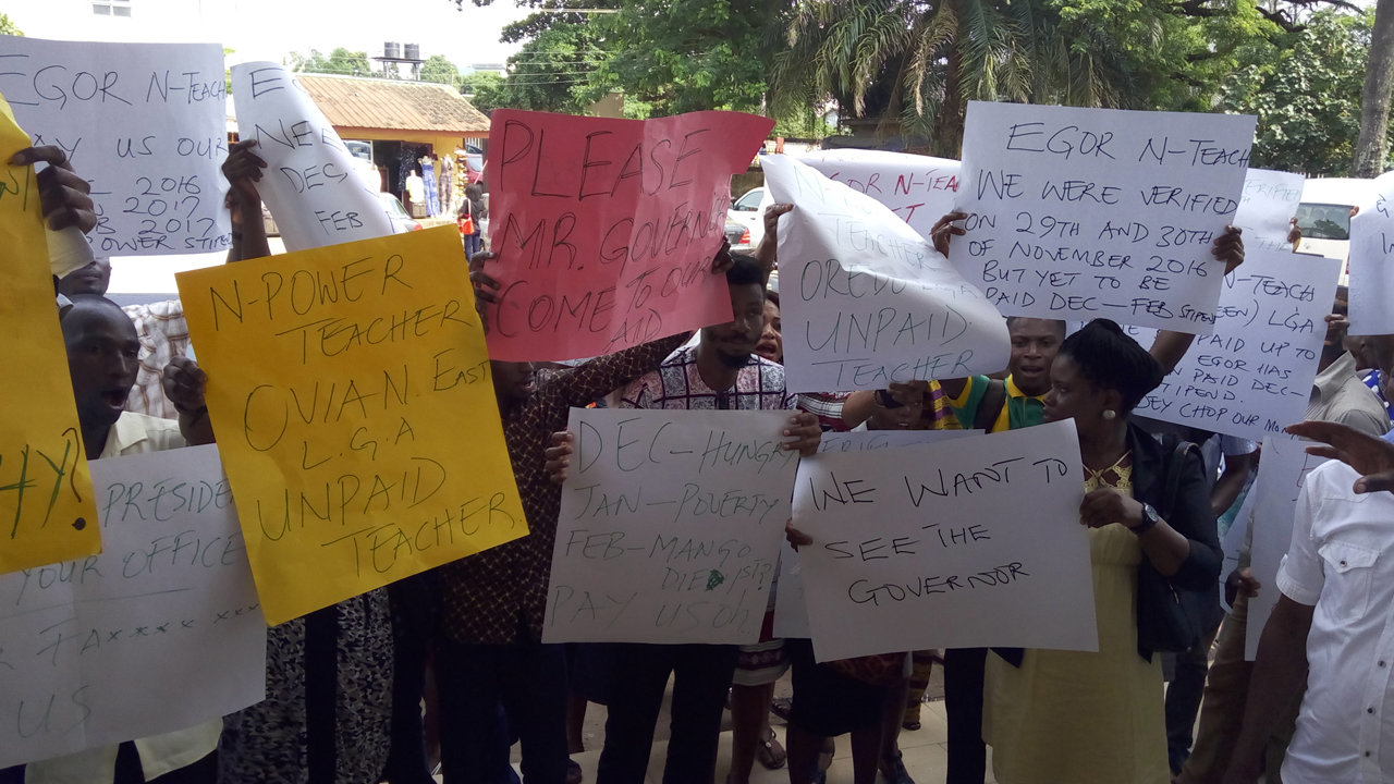 N-Power beneficiaries protest non-payment of stipend