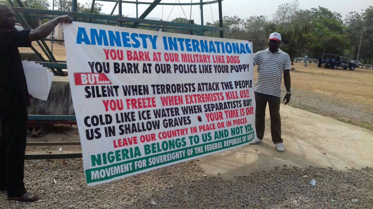 Falana Petitions Buhari as Protesters Storm Amnesty International's Abuja Office, Again