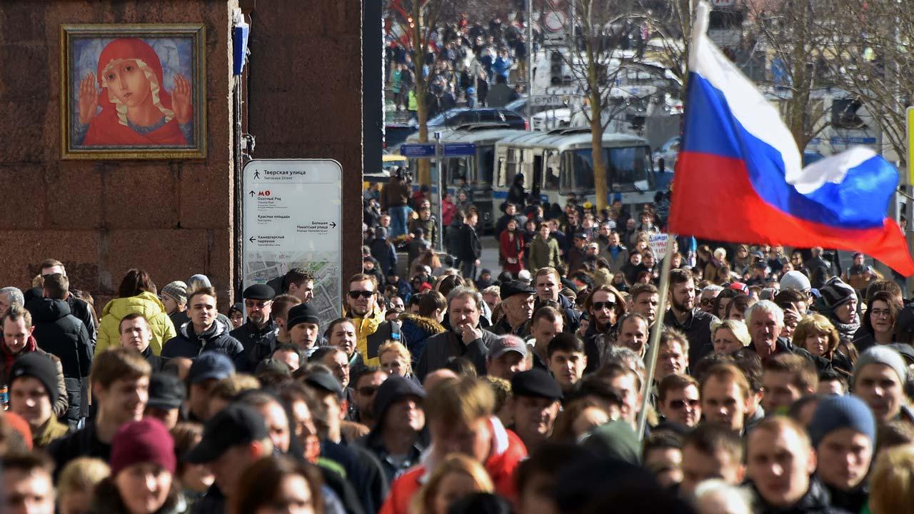 Митинг оппозиции в Москве   vestiru