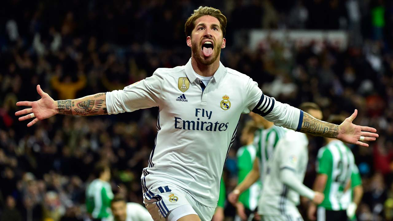 Ramos strikes again as madrid prosper from barca hangover - Sergio madrid ...