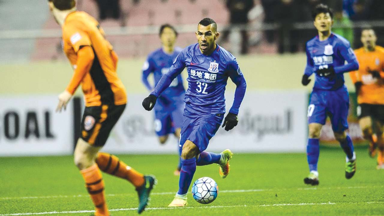 Carlos Tevez shines in China as Shanghai Shenhua wins