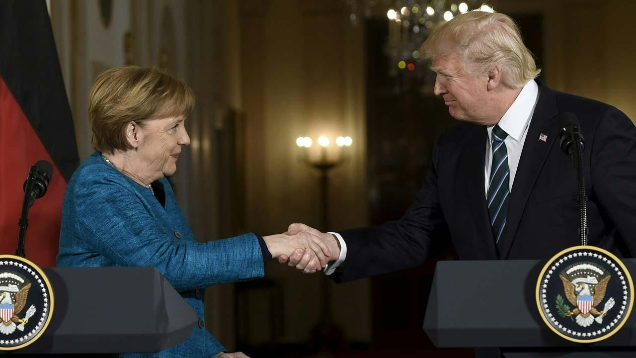 Image result for germany merkel meets trump