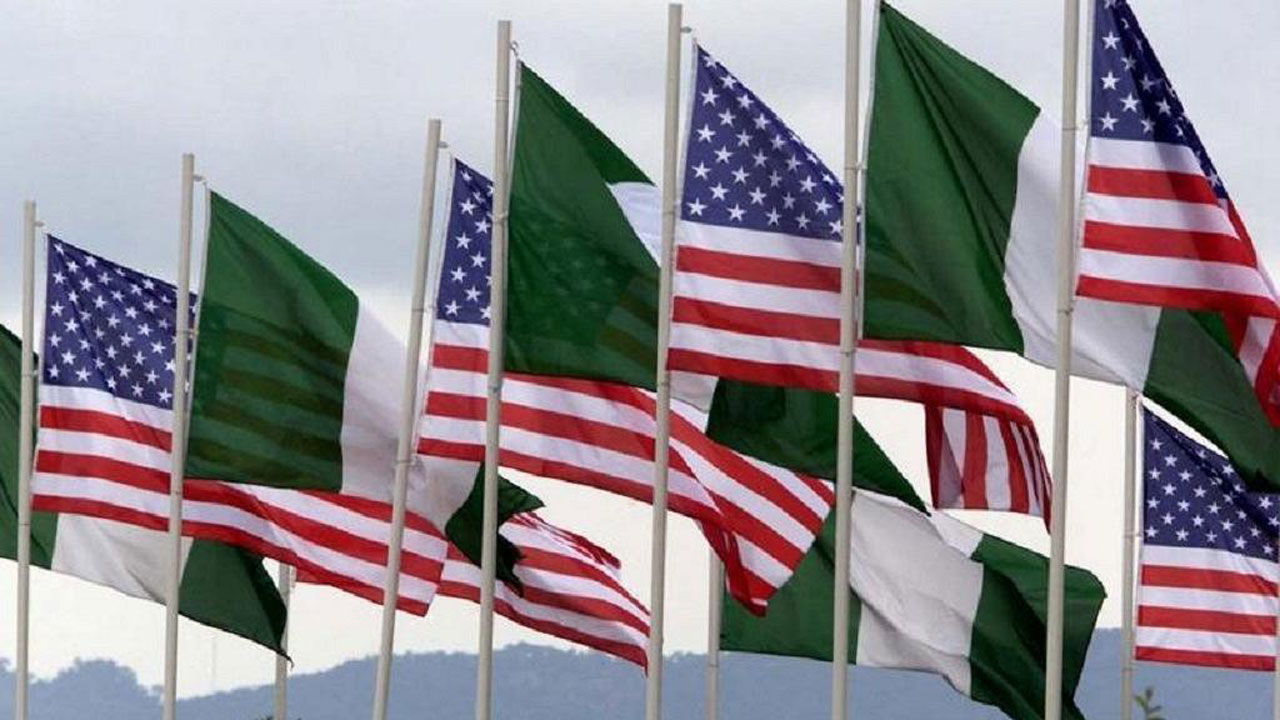 Image result for USA and Nigeria flag