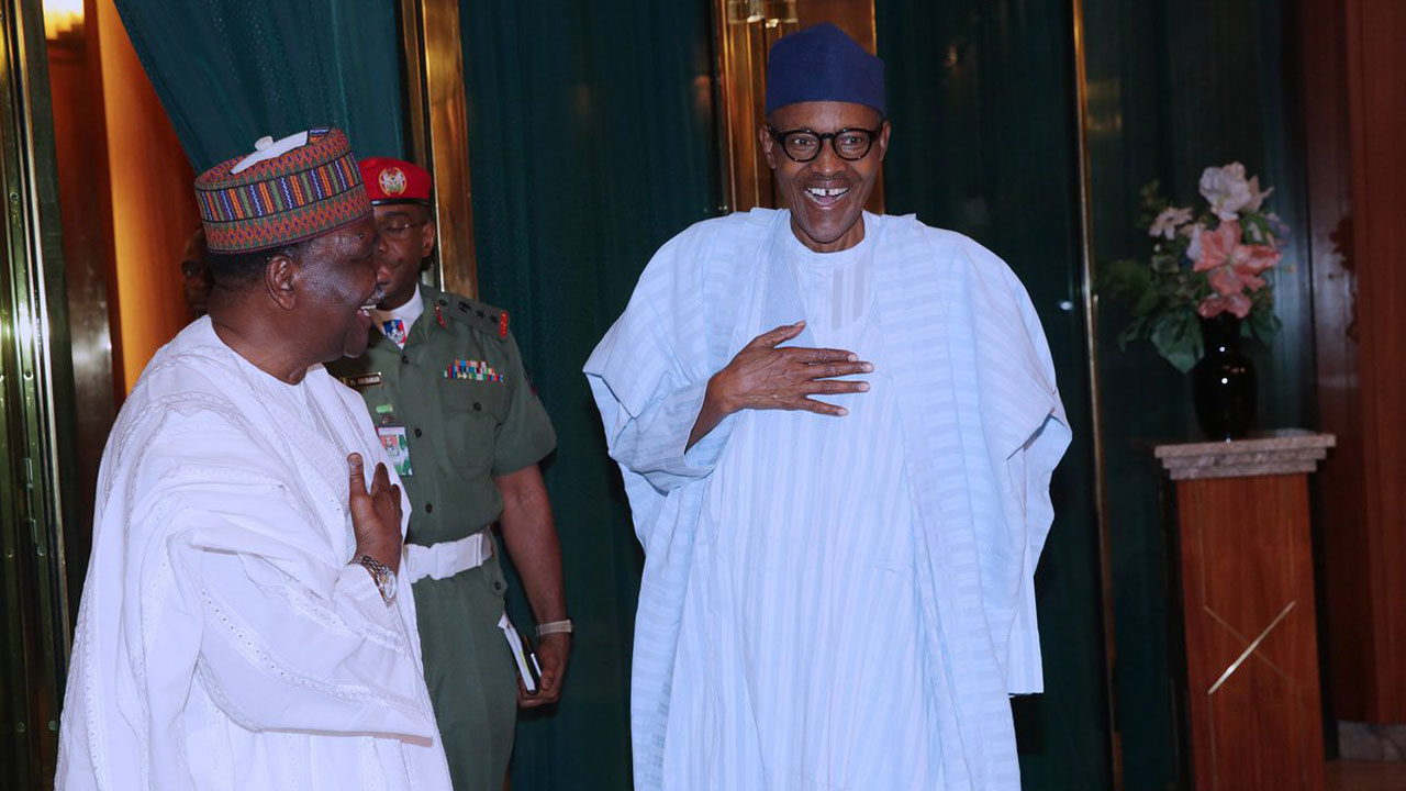 Former Head of State, General Yakubu Gowon visits Buhari
